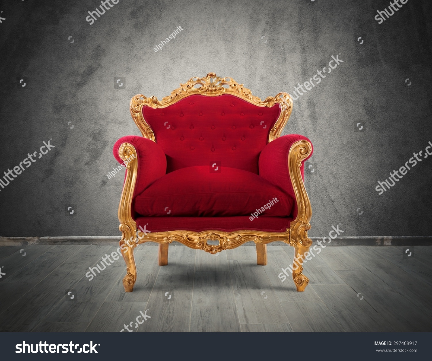 Concept luxury success red velvet gold stock photo 297468917 shutterstock - Velvet concept immobilier ...