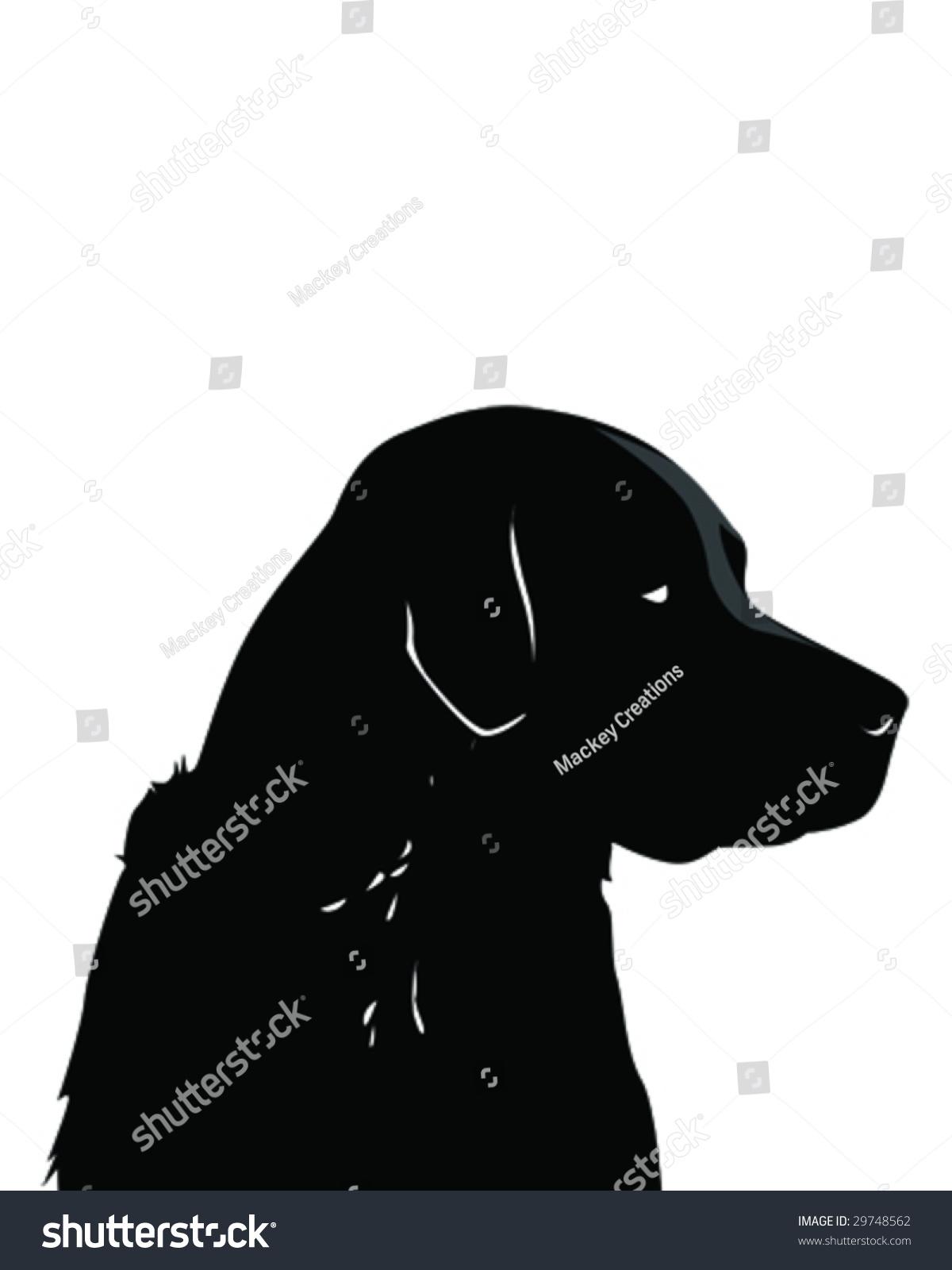 Black Lab Vector Illustration Stock Vector 29748562