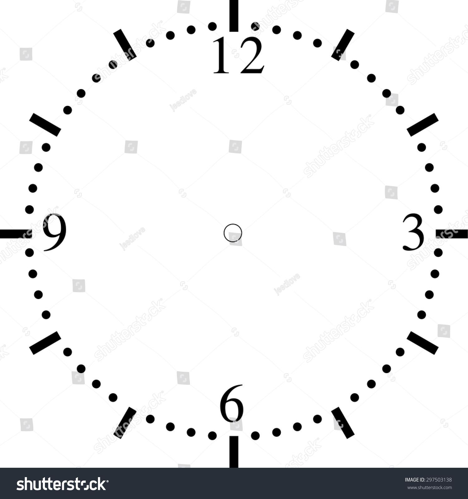 worksheet Clock Blank clock face blank stock vector 297503138 shutterstock blank