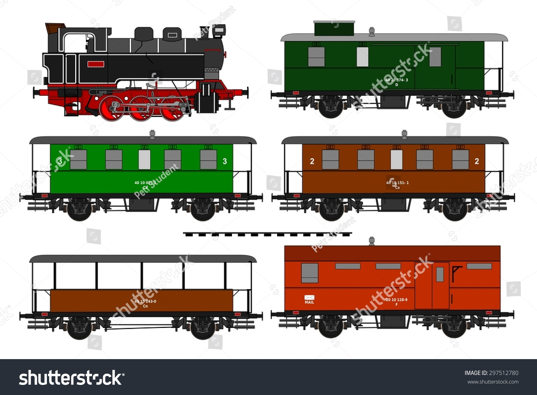 Side Illustration Vintage Train Stock Vector 297512780 ...