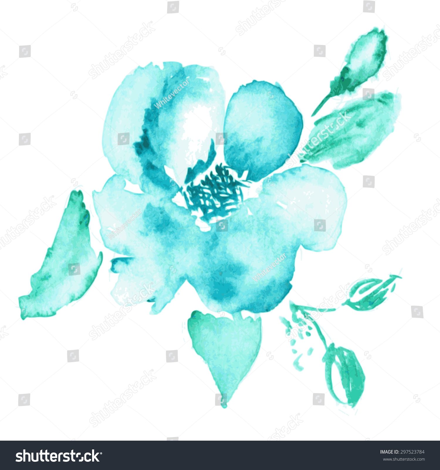 Vector Floral Background Watercolor Floral Illustration The Arts