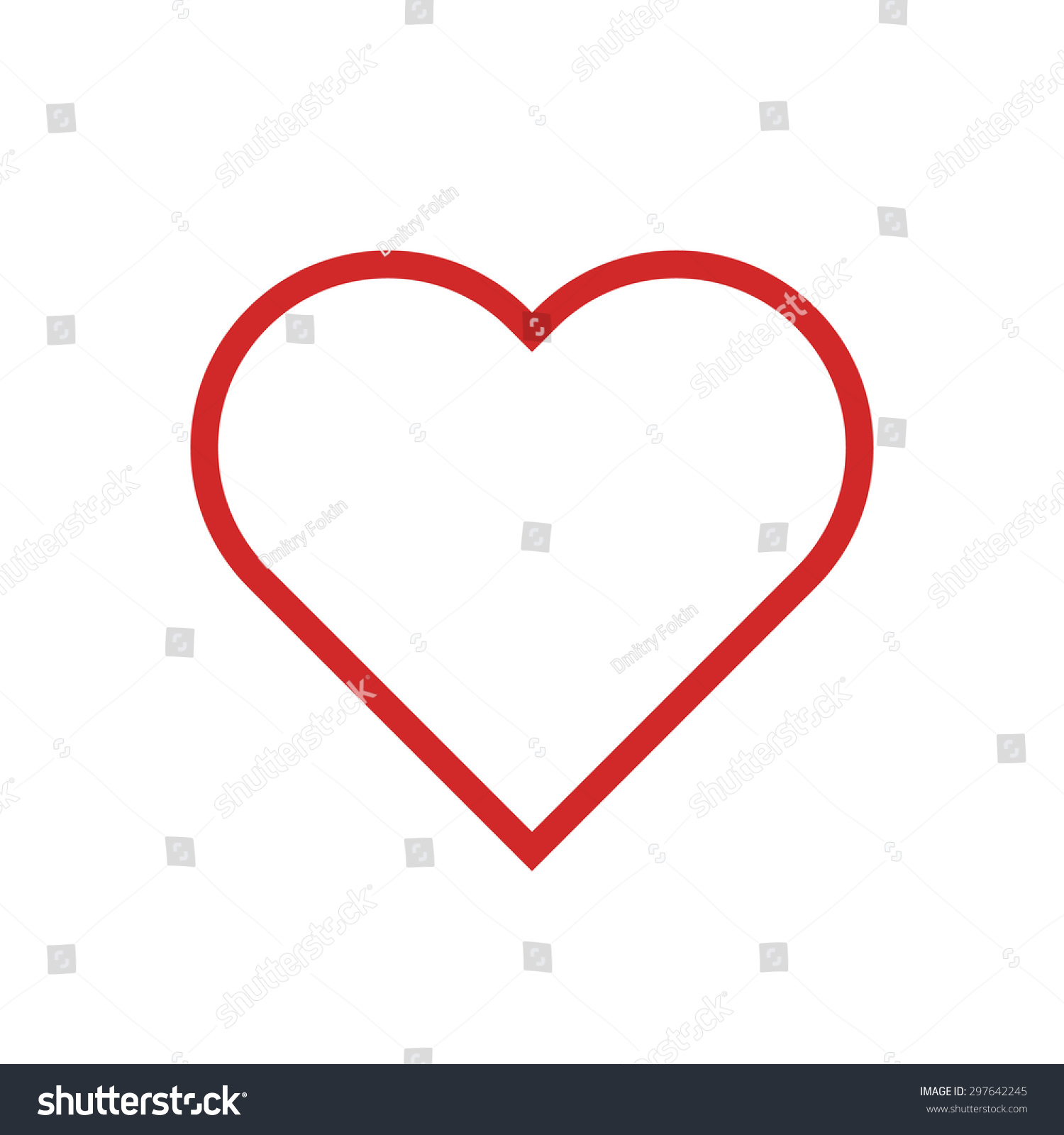 Heart outline icon modern minimal flat stock vector 297642245 heart outline icon modern minimal flat design style love thin line symbol vector buycottarizona Image collections