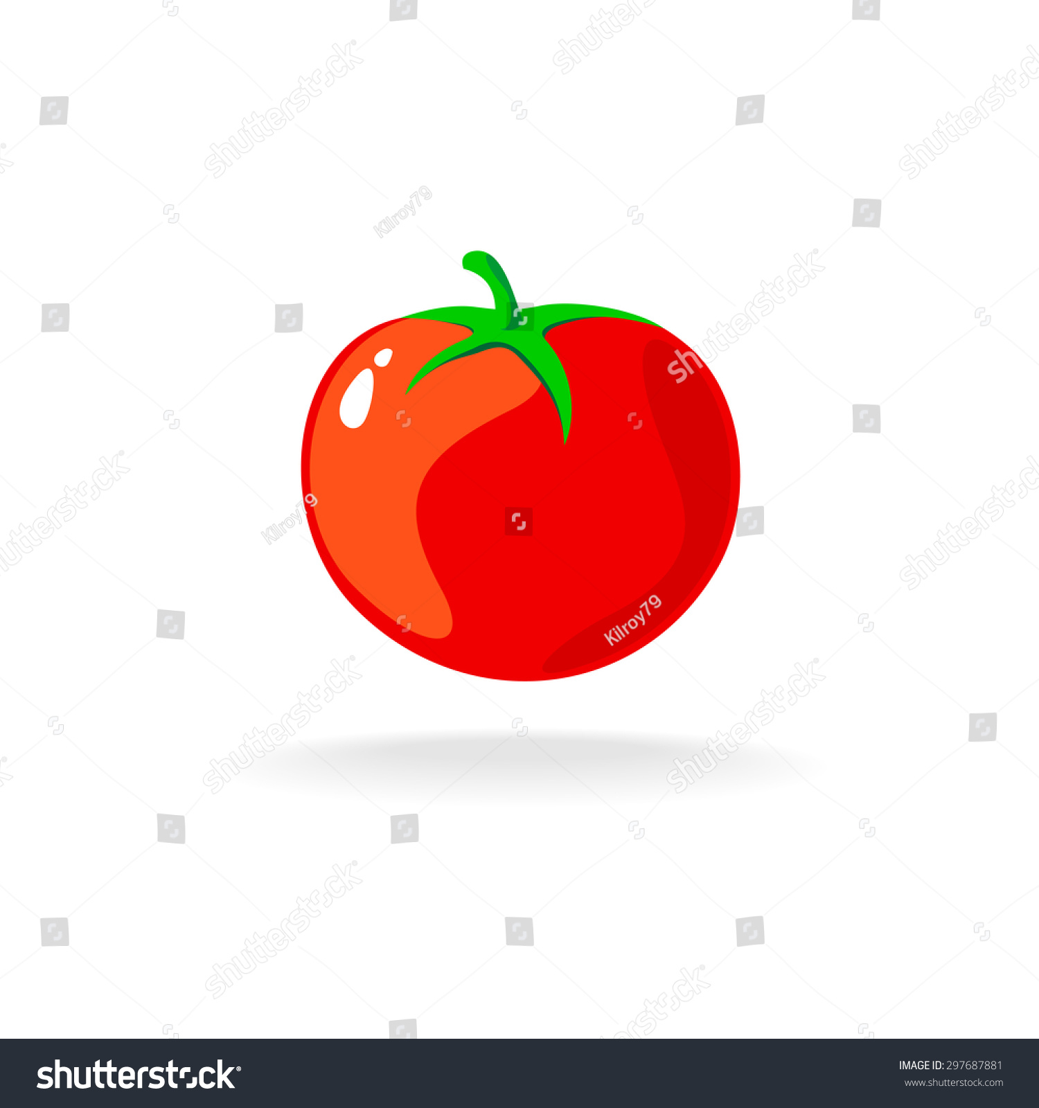 Tomato isolated single simple cartoon illustration stock for Simple single