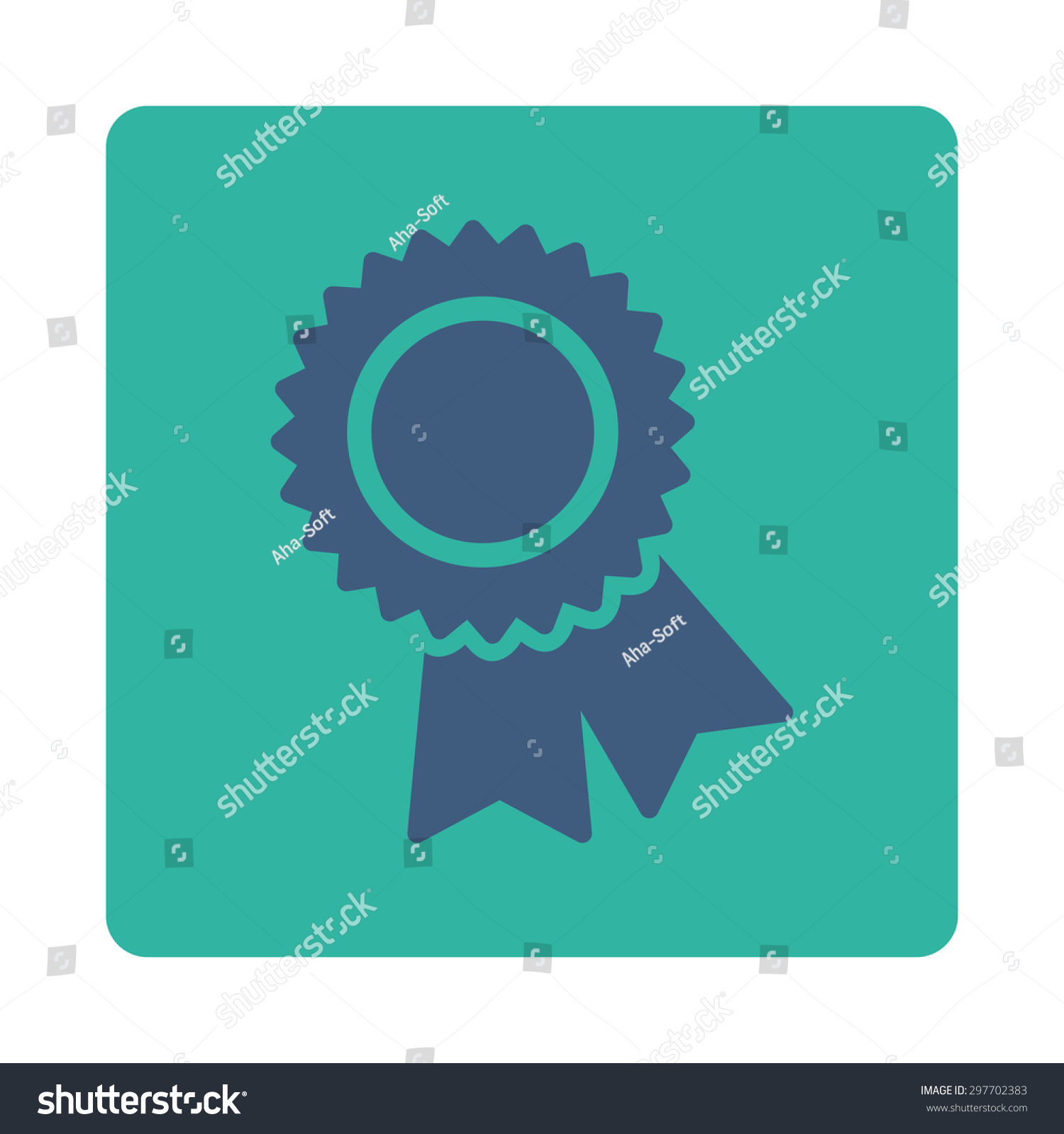 Certification Icon Award Buttons Over Color Set Stock Vector
