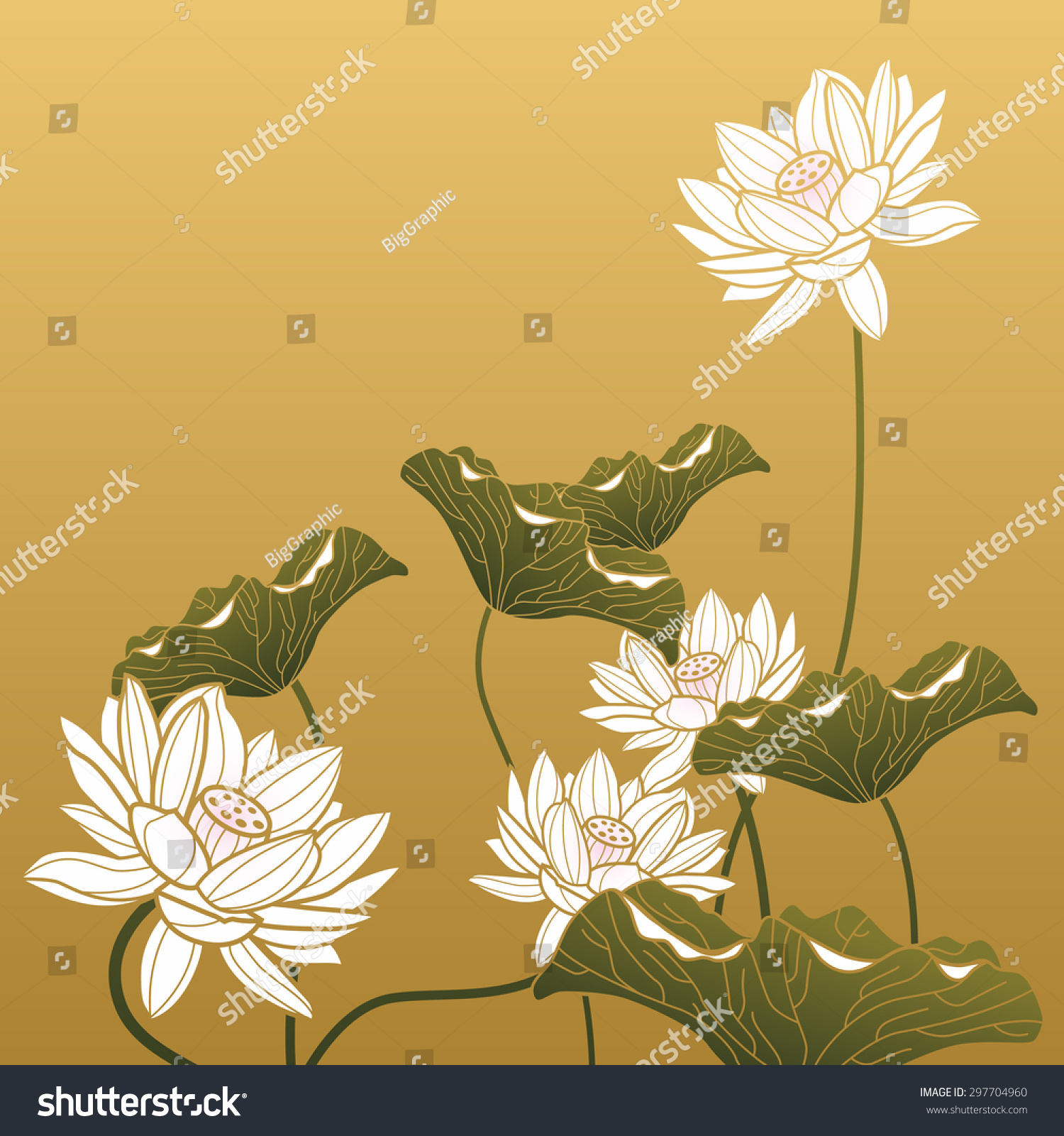 Chinese painting lotus flower stock vector royalty free 297704960 chinese painting lotus flower izmirmasajfo
