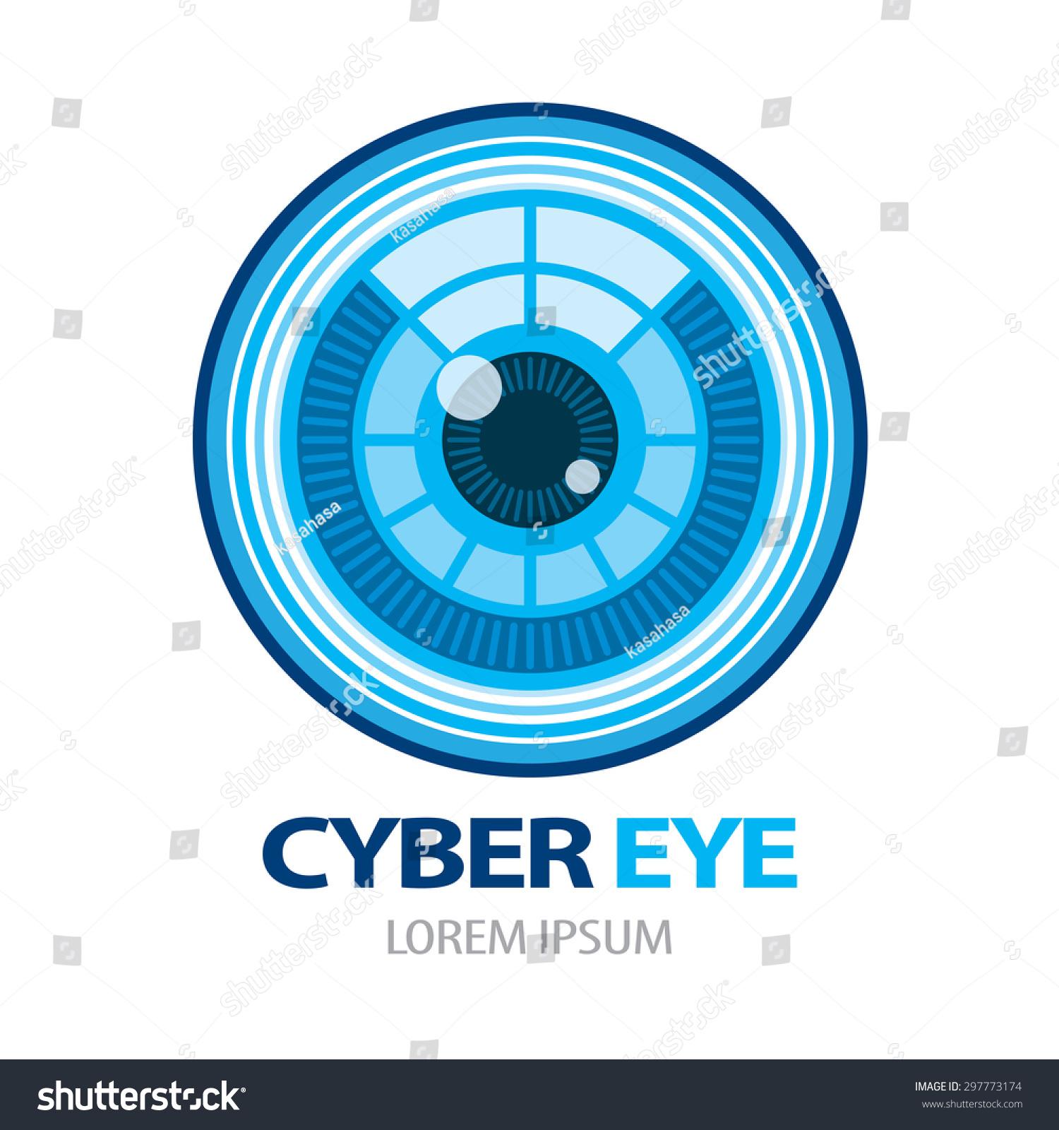 cyber eye symbol icon vector illustration stock vector