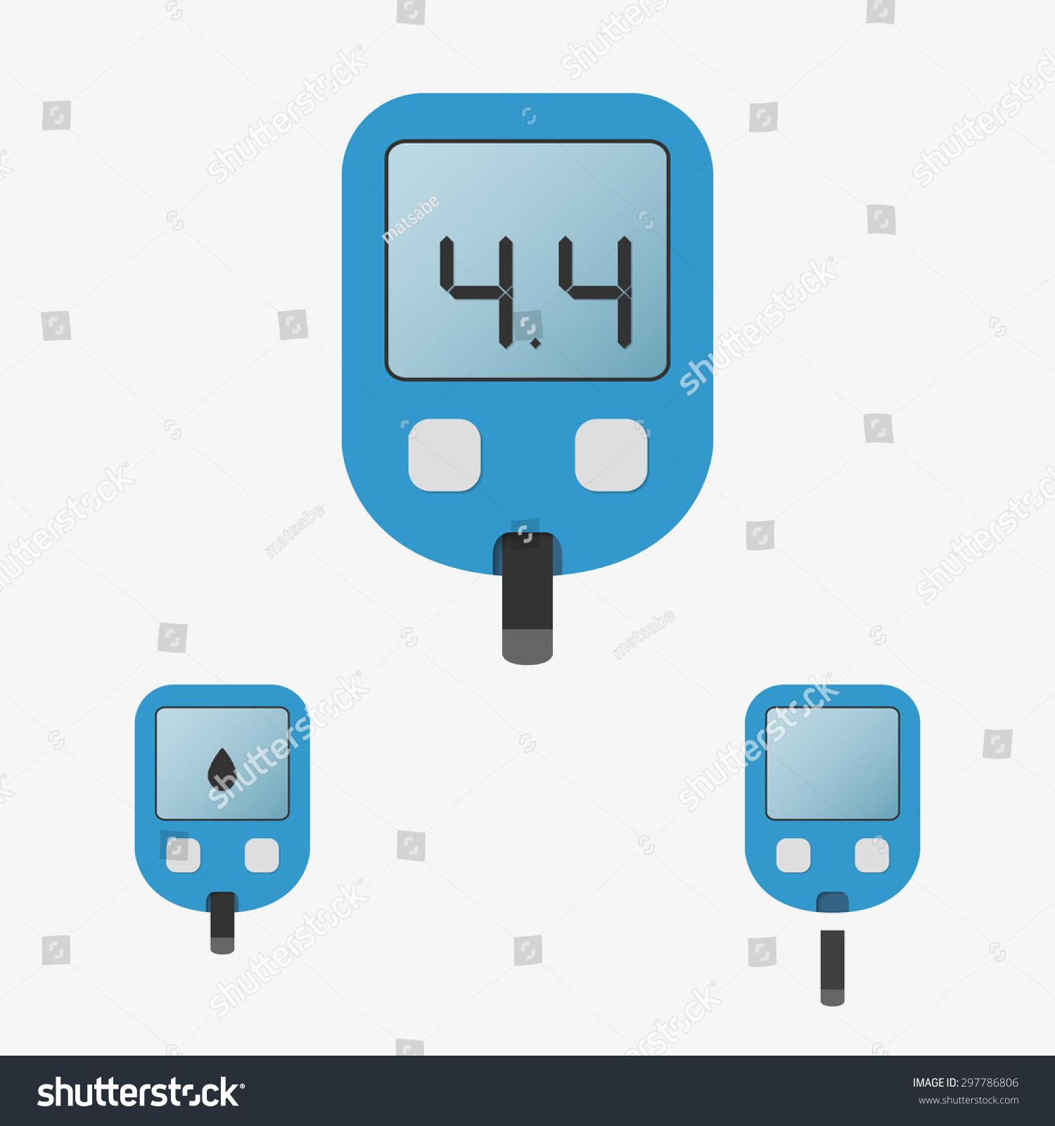 Home Glucose Meter (Glucometer) Vector Illustration - 297786806 ...