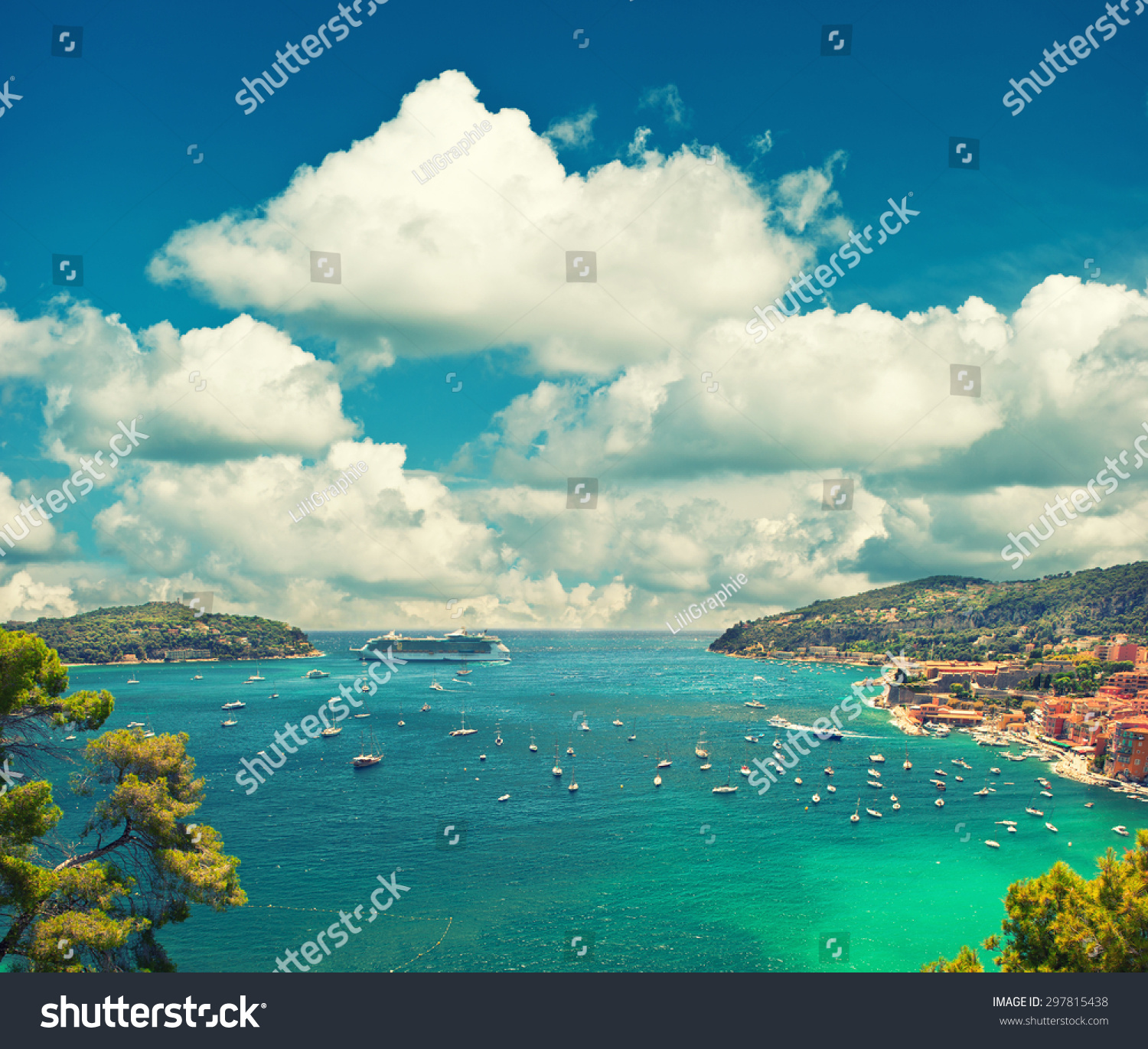 Mediterranean Style Houses With Ocean Views: Villefranche, Provence, French Riviera, Mediterranean Sea
