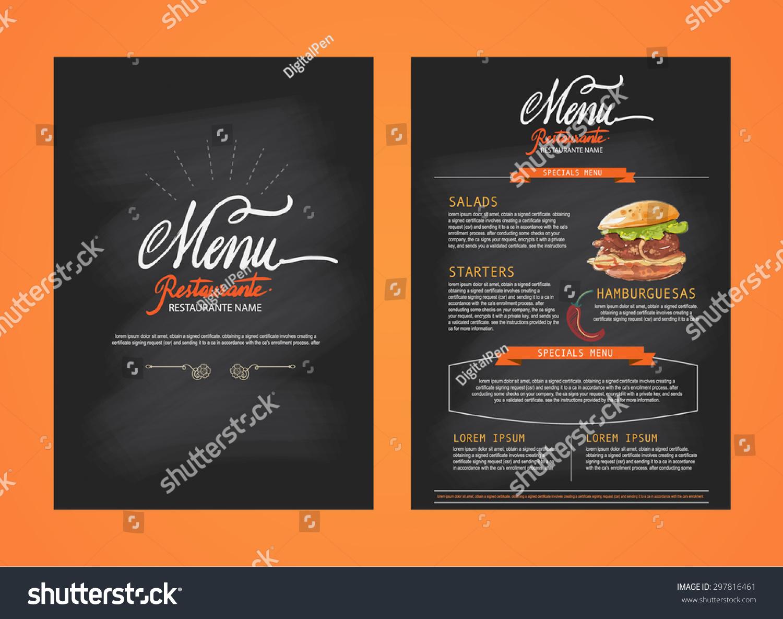 Restaurant Menu Template Design Food Flyer Vector 297816461 – Restaurant Brochure Template