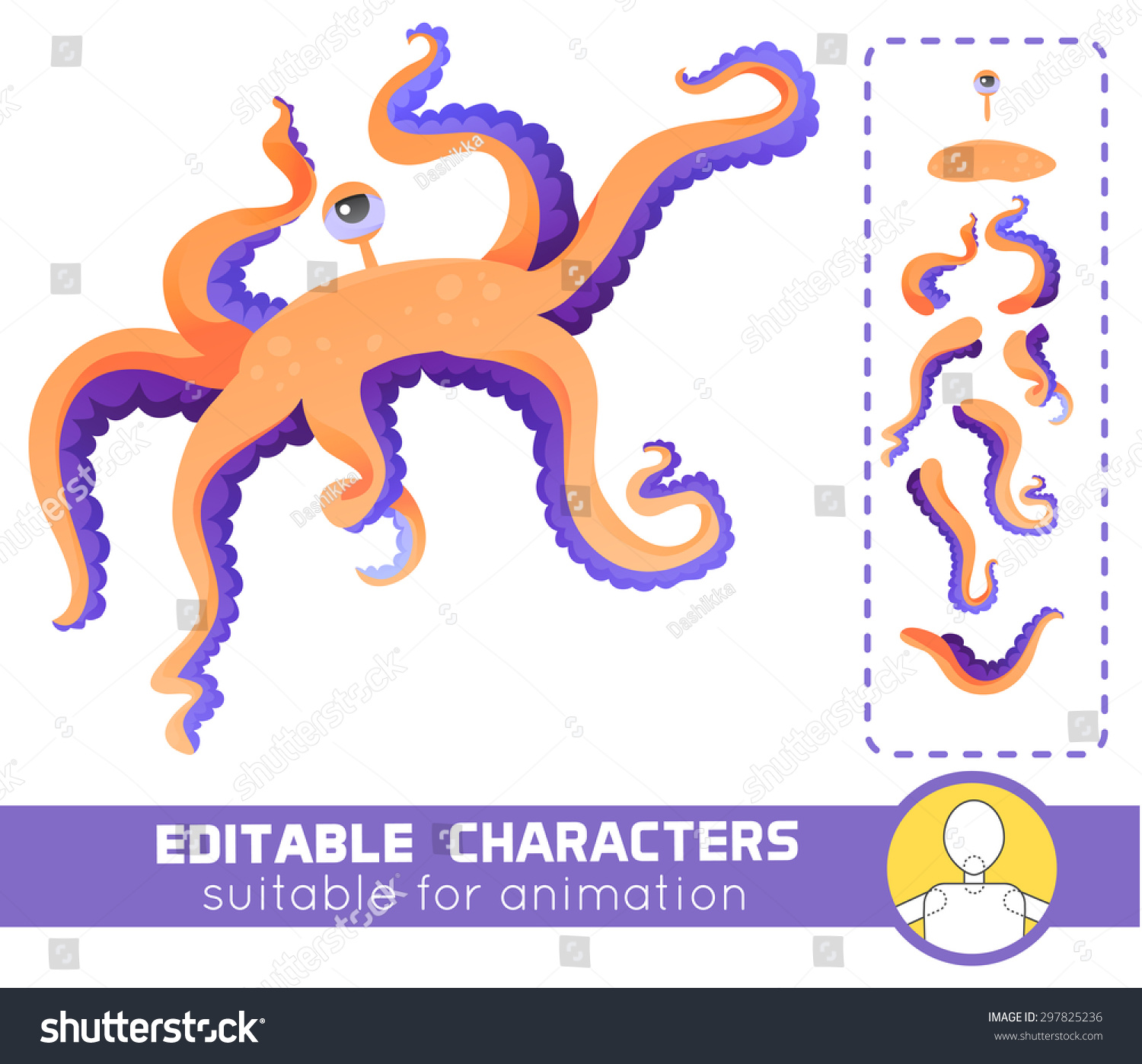 Water Funny Pictures Stock Vector Cute And Funny Water Monster With
