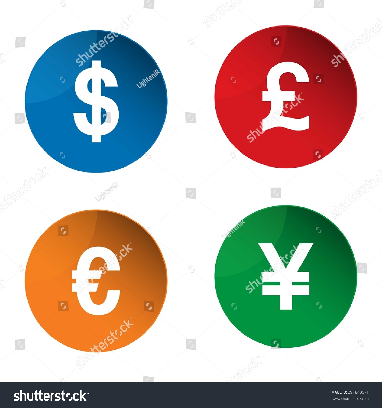 Currency Icon Currency Exchange Symbol Dollar Stock Vector Royalty