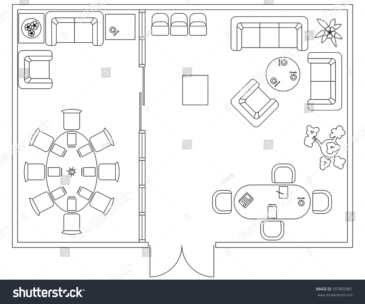 Furniture Design Elements architectural set furniture design elements floor stock vector