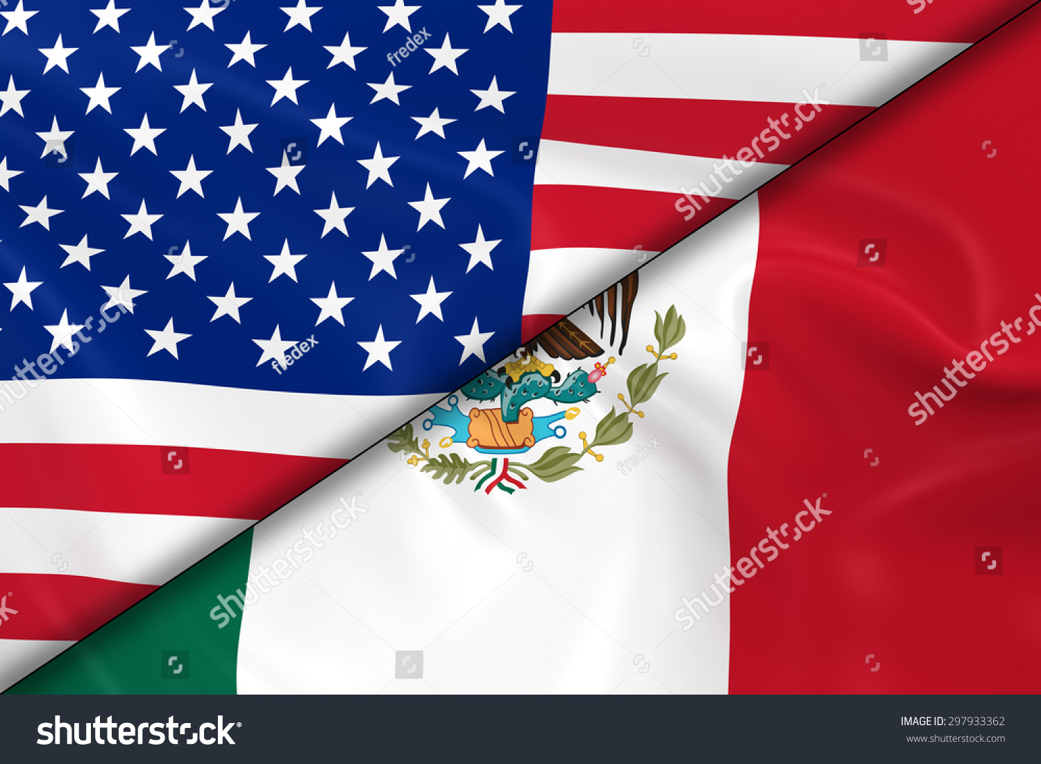 The background of the united mexican states or mexico