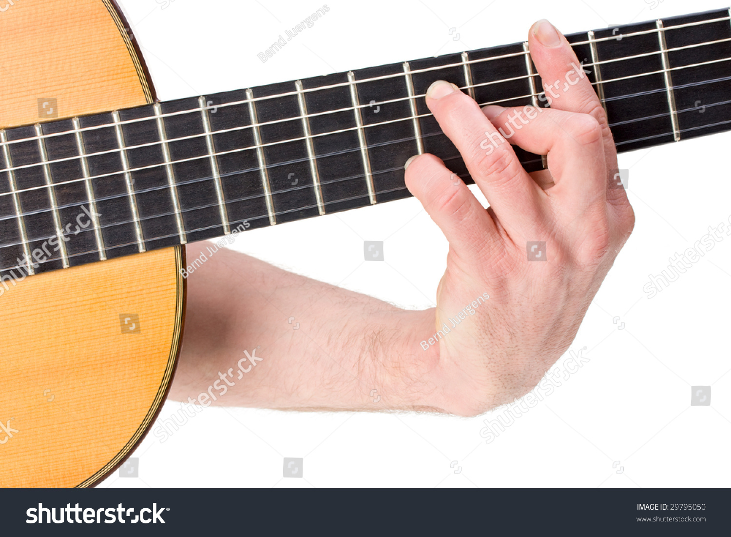 Male Hand Holding Chord On Classsical Stock Photo Royalty Free