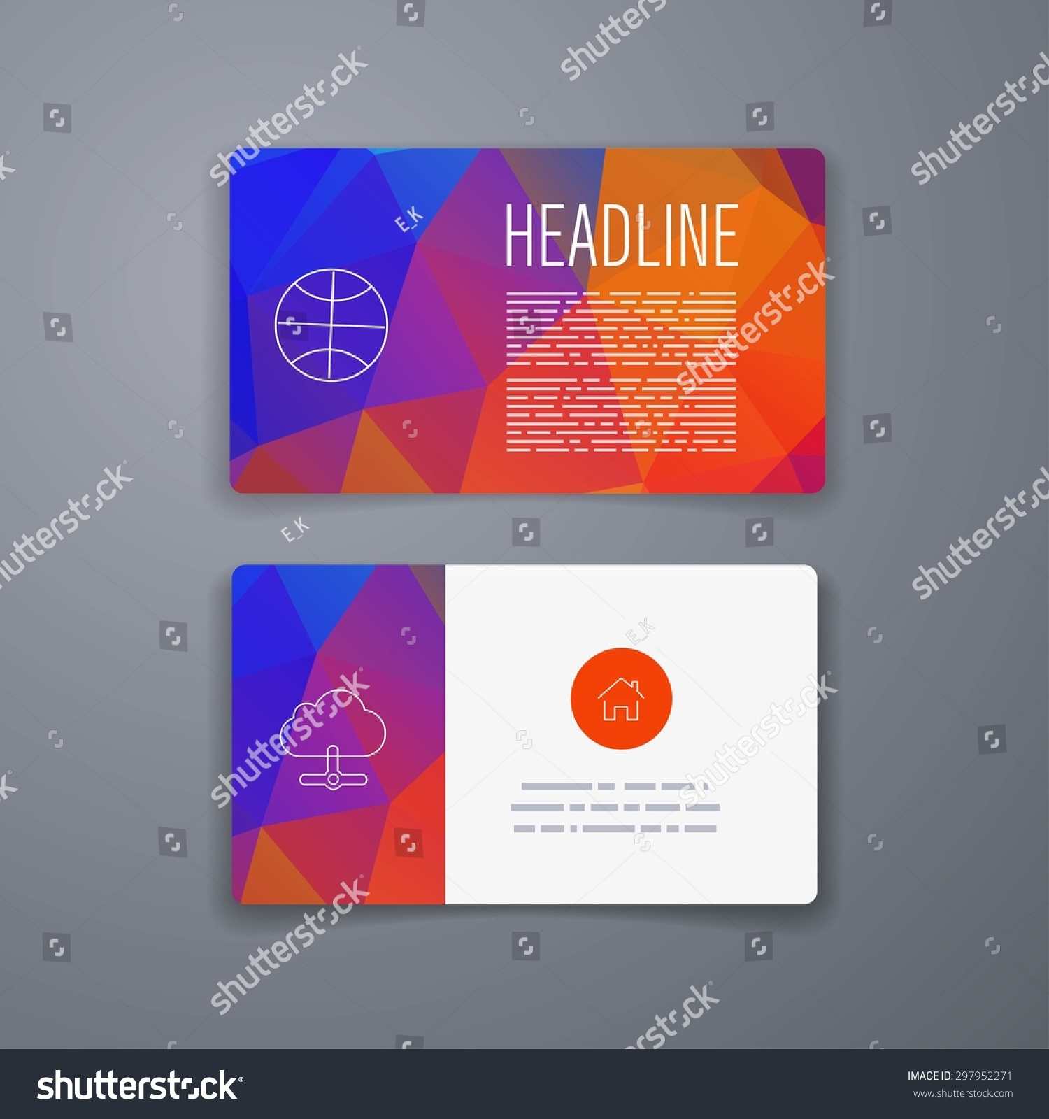 business card template abstract vector template stock vector