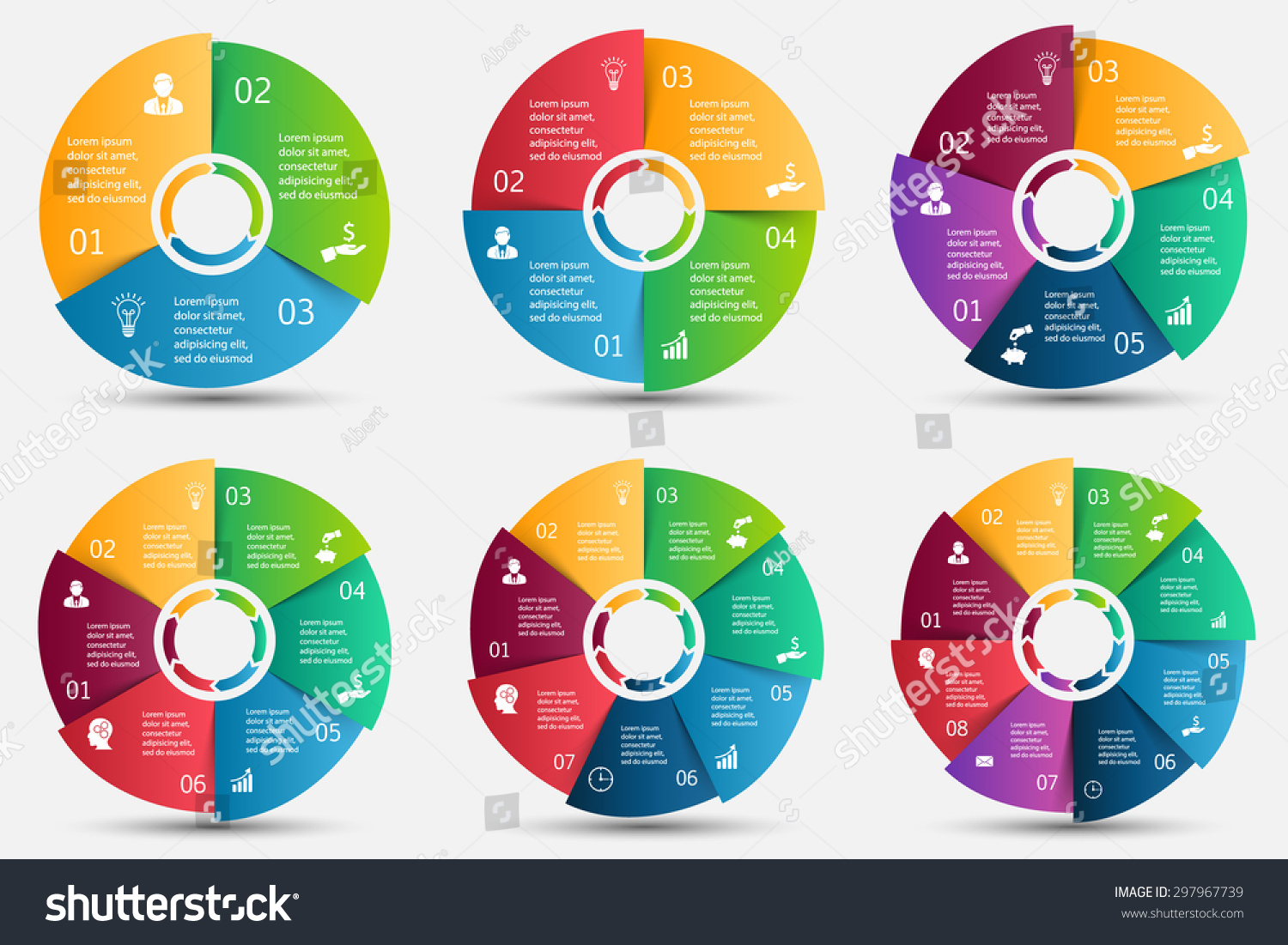 Vector Circle Element Arrows Infographic Template Vector – Element Chart Template