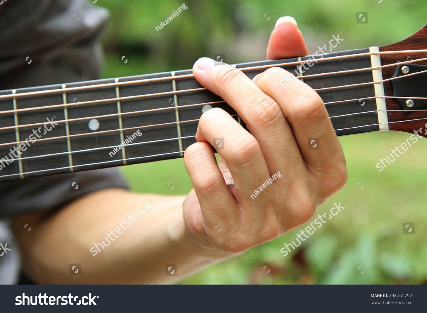 Playing Guitar Chord G Playing Guitar Stock Photo Royalty Free