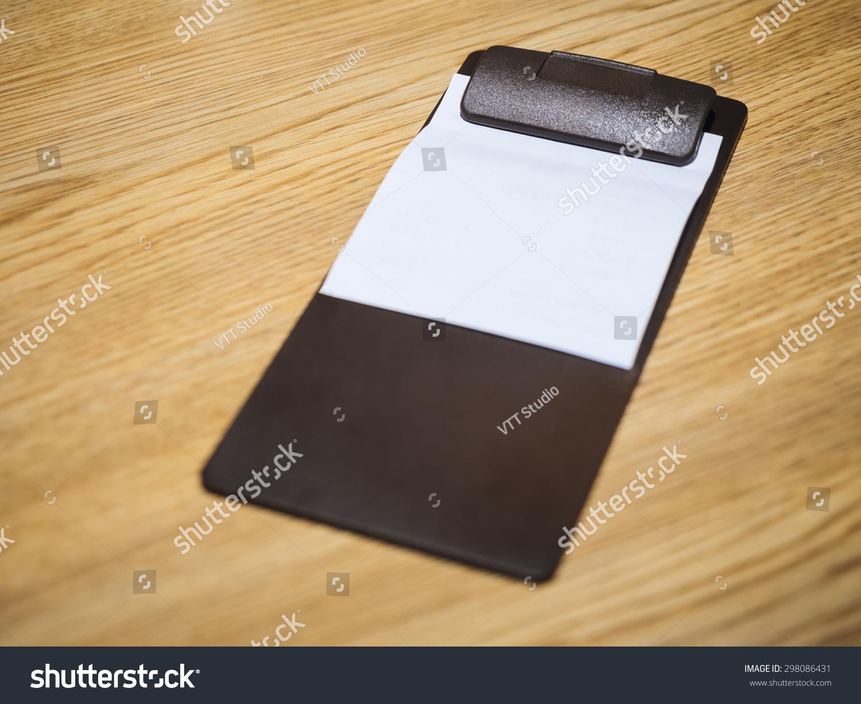 blank bill receipt restaurant clip pad stock photo edit now