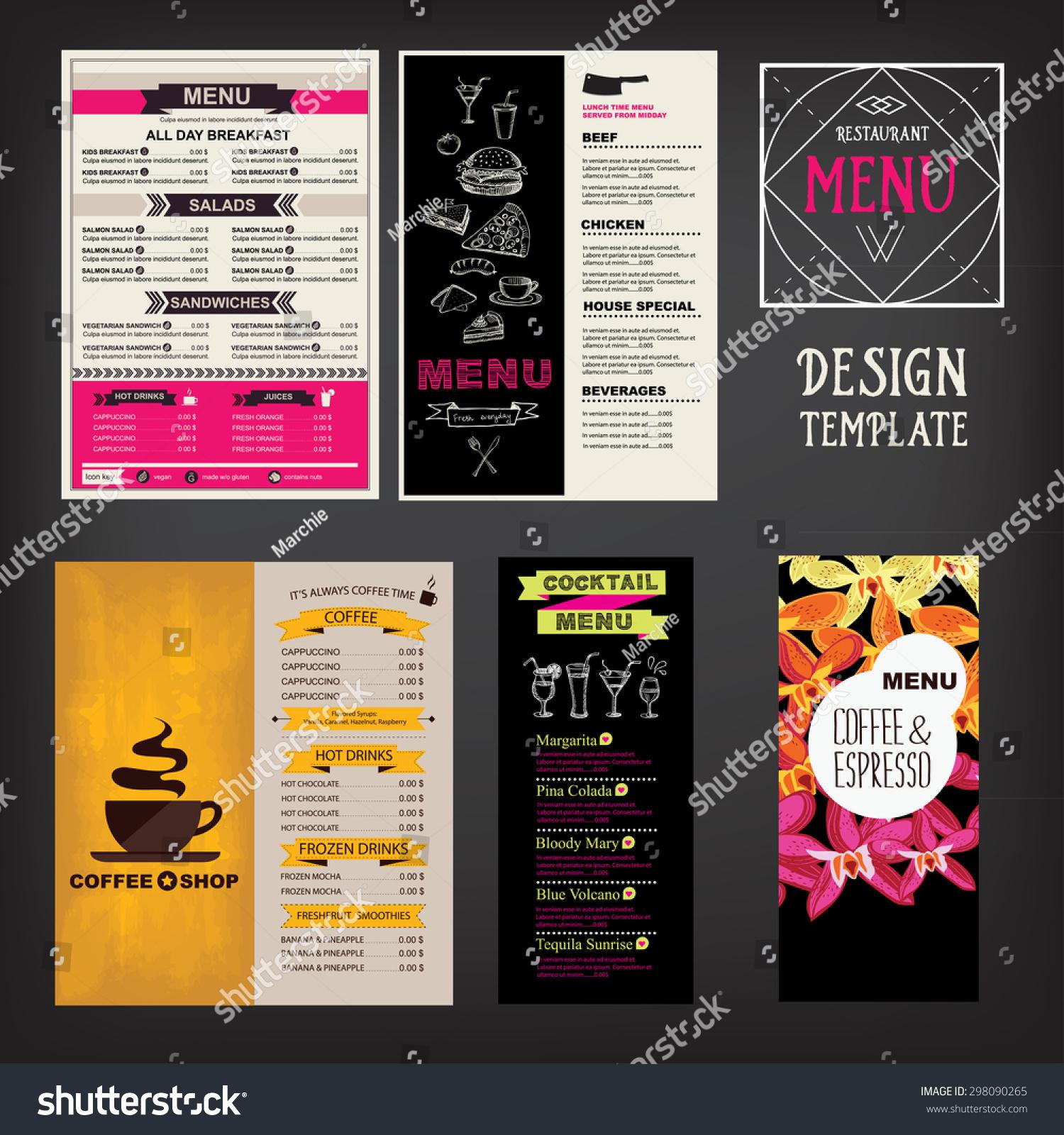 Restaurant cafe menu template design food stock vector