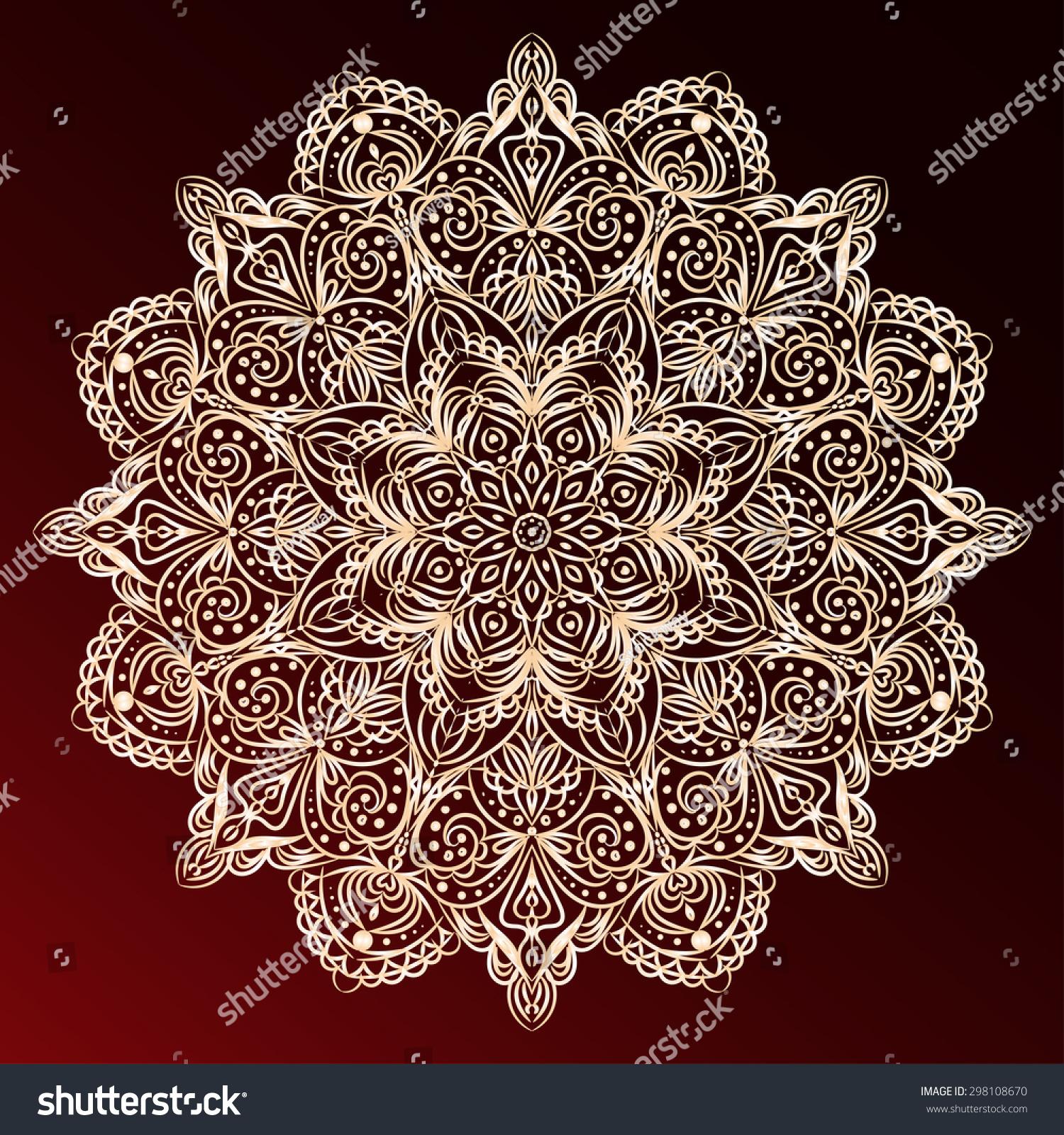 vector circular pattern mandala oriental motifs stock vector 298108670 shutterstock. Black Bedroom Furniture Sets. Home Design Ideas
