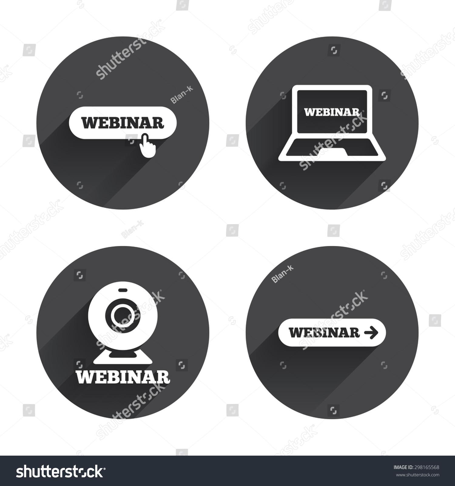 Webinar Icons. Web Cam...