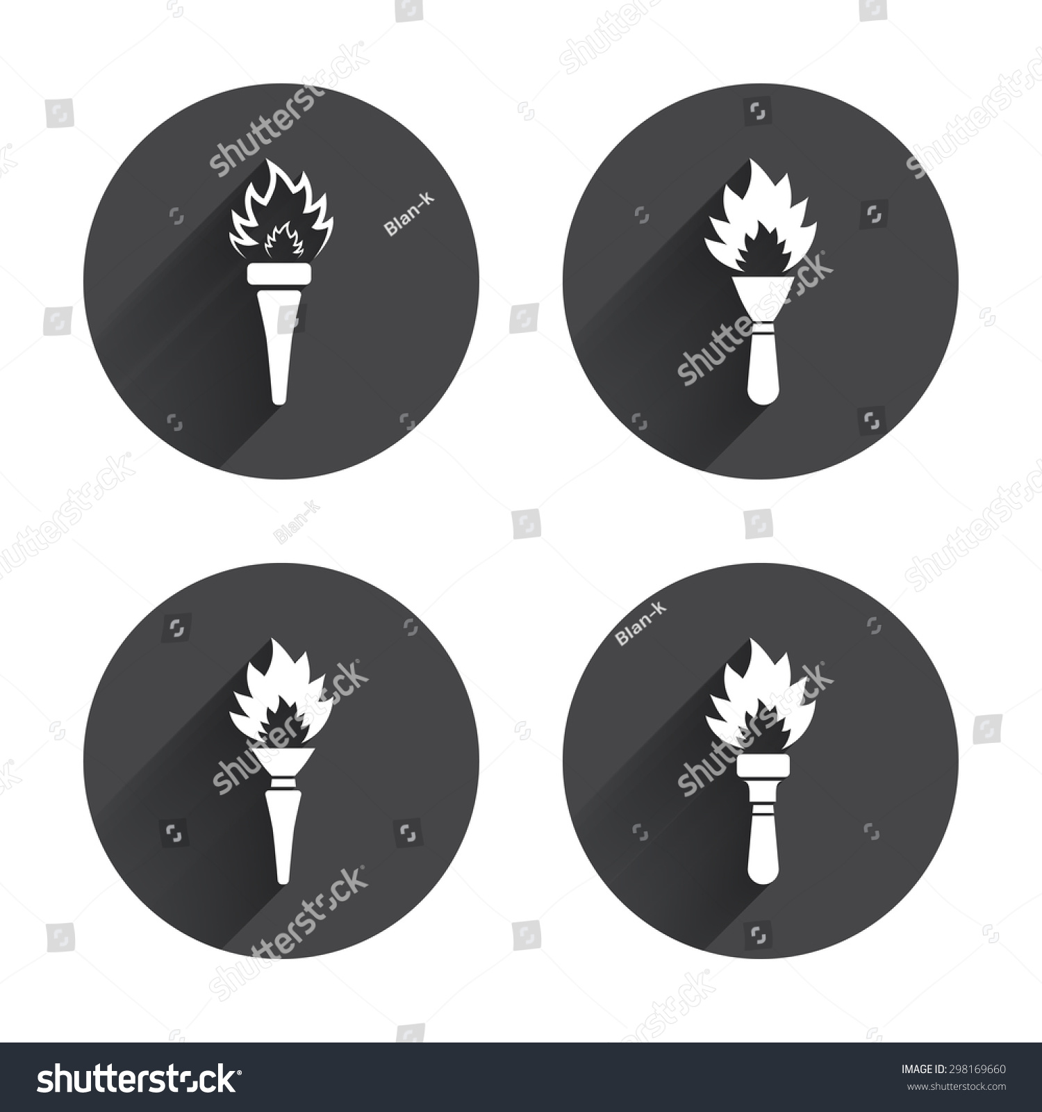 Torch flame icons. Fire flaming symbols. Hand tool which provides light or heat.  sc 1 st  Shutterstock & Torch Flame Icons Fire Flaming Symbols Stock Vector 298169660 ... azcodes.com