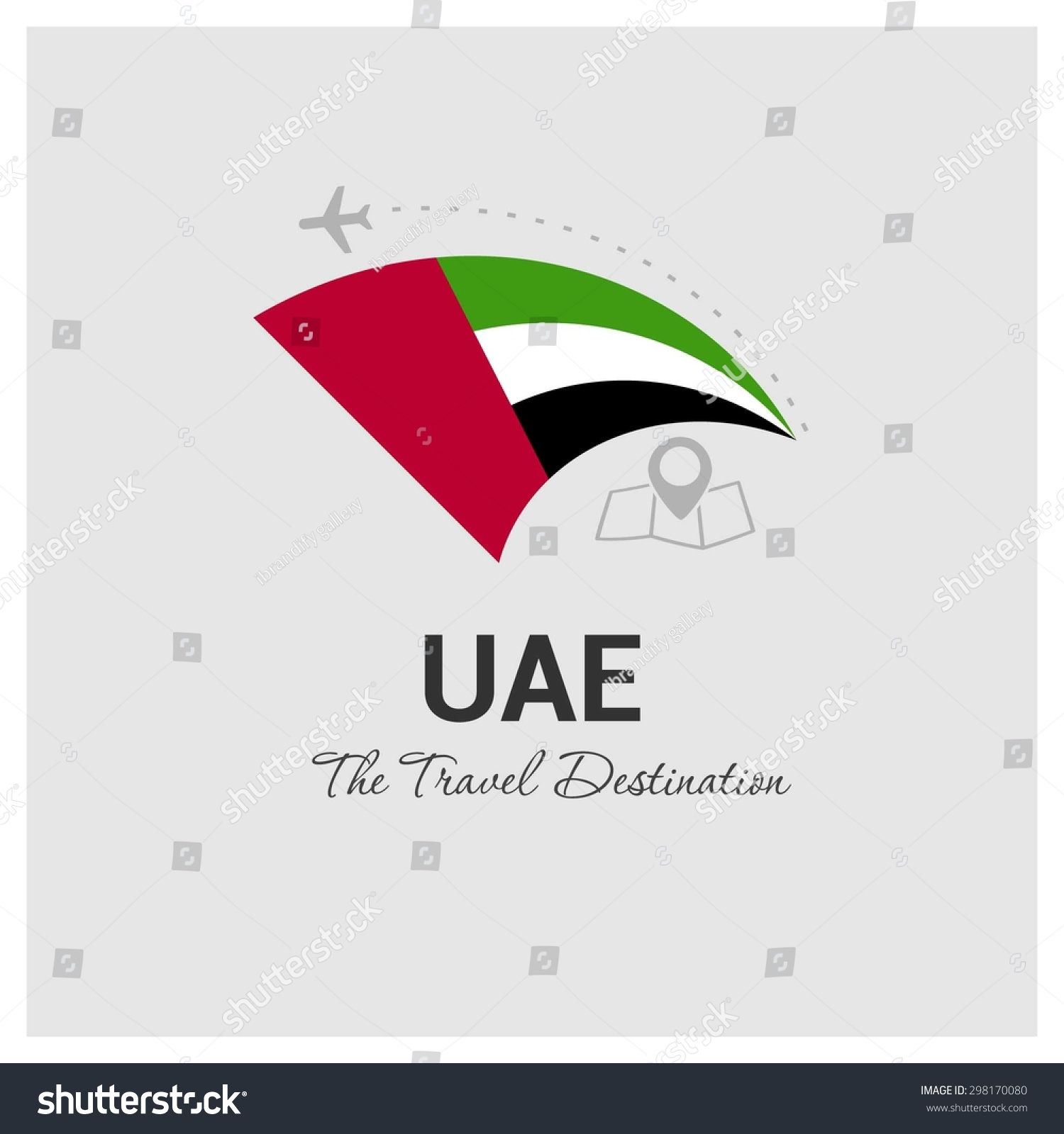 uae the travel destination logo vector travel company