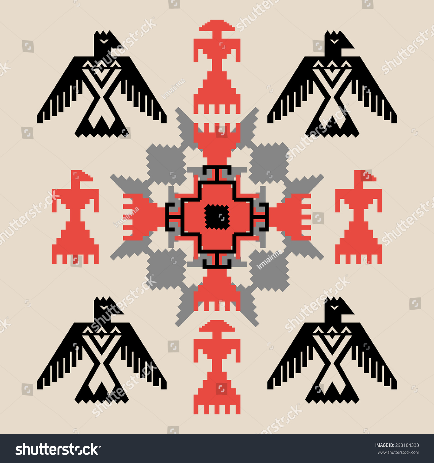 Native American Thunderbird Symbol Crazywidowfo