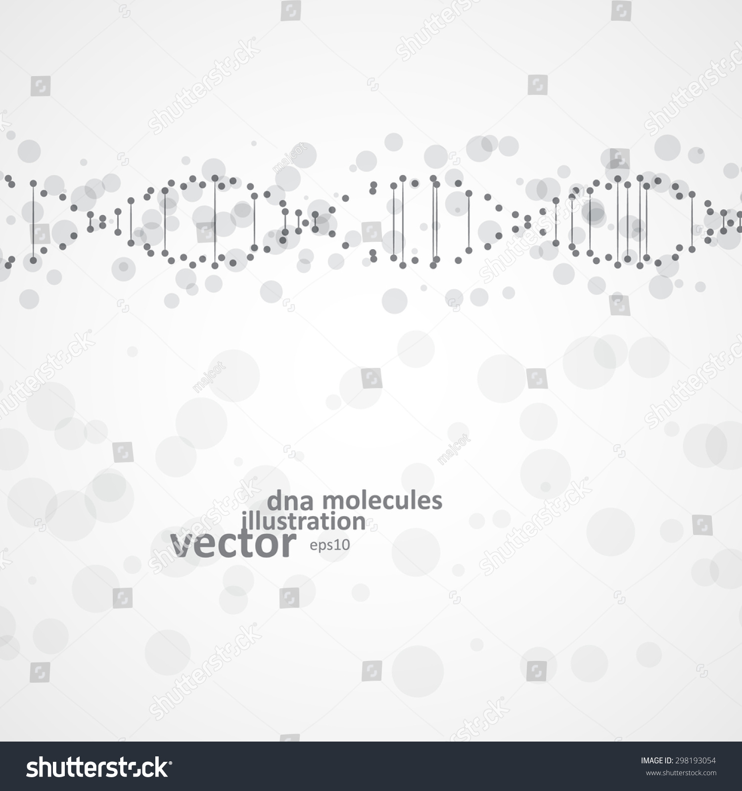Abstract DNA futuristic molecule cell illustration eps10