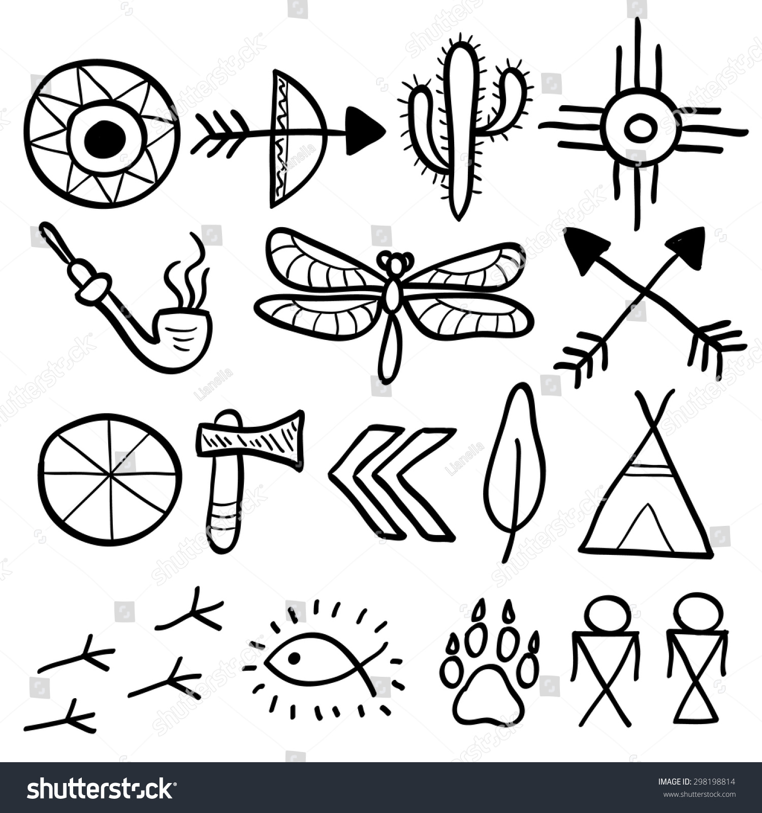 Hand Drawn Doodle Vector Elements Set Stock Vector Royalty Free