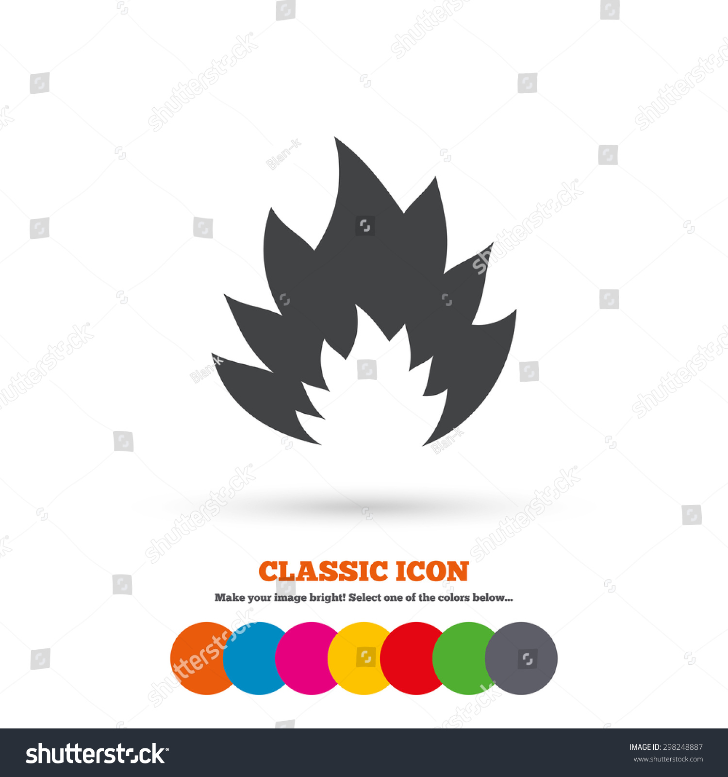 Fire Flame Sign Icon Heat Symbol Stock Vector 298248887 Shutterstock