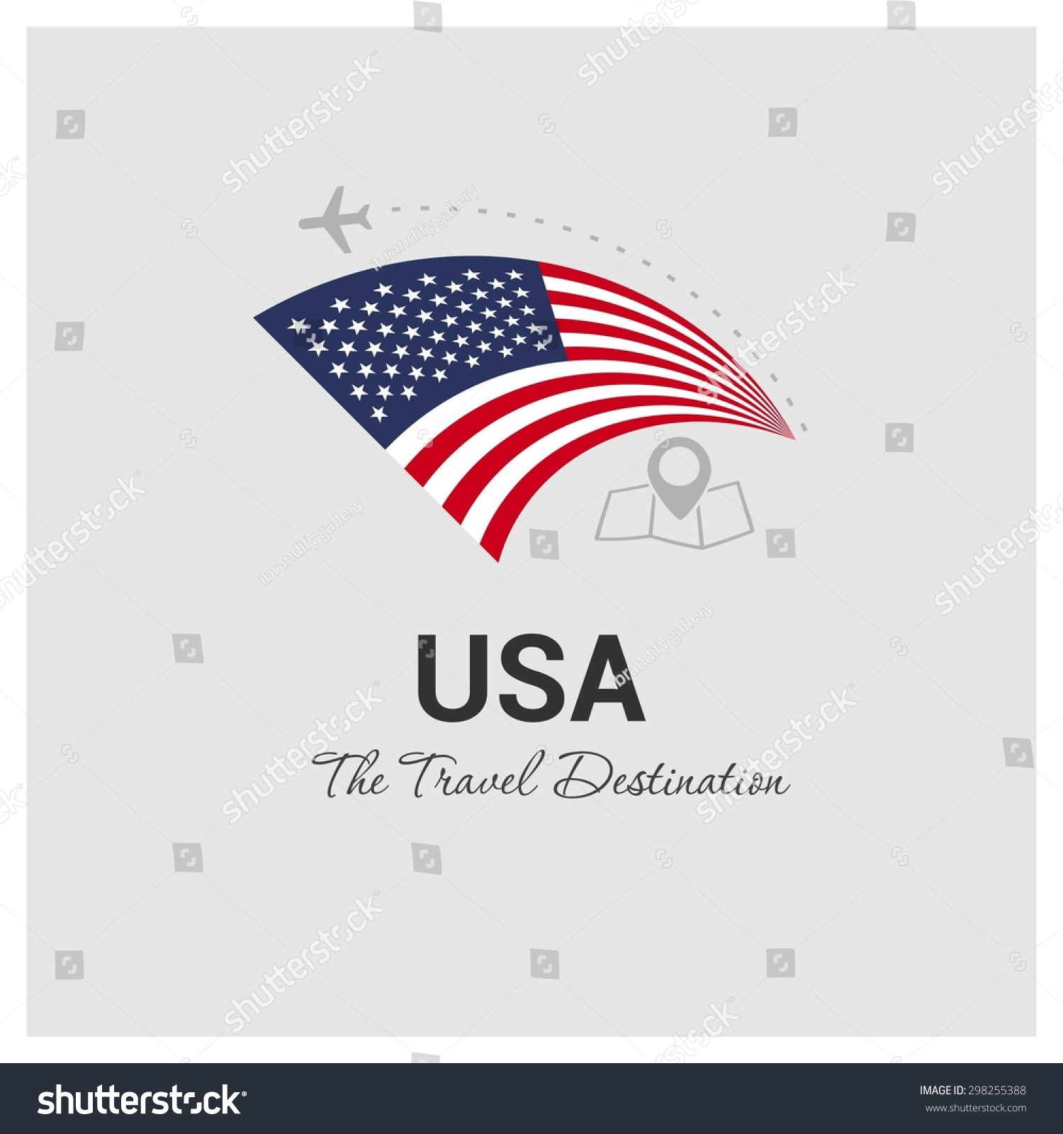 Usa the travel destination logo vector travel company for Design company usa