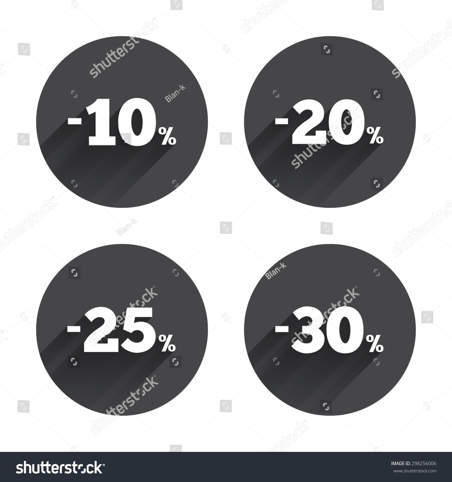 Sale Discount Icons Special Offer Price Stock Vector (Royalty Free ...