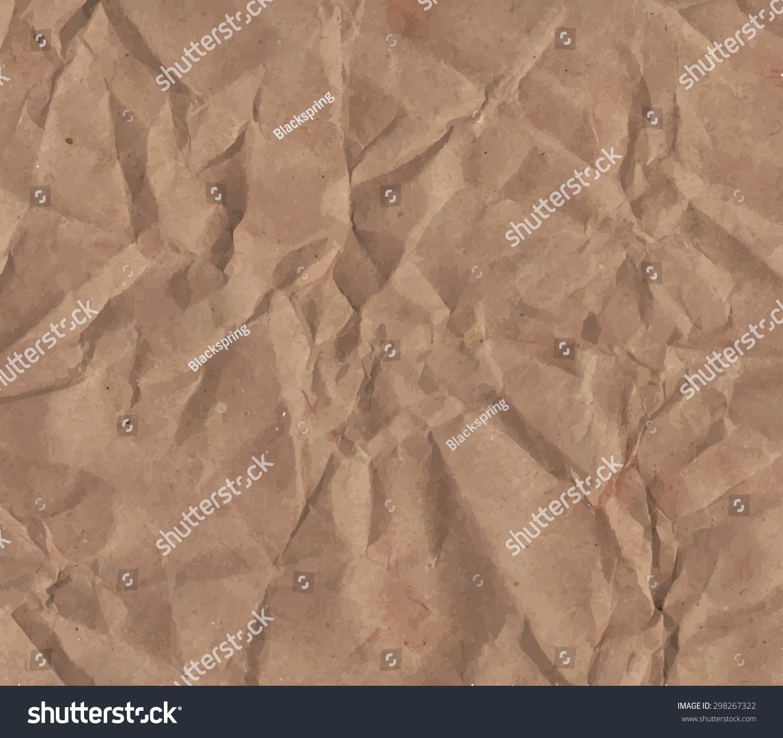 Crumpled Paper Texture Stock Vector 298267322 - Shutterstock