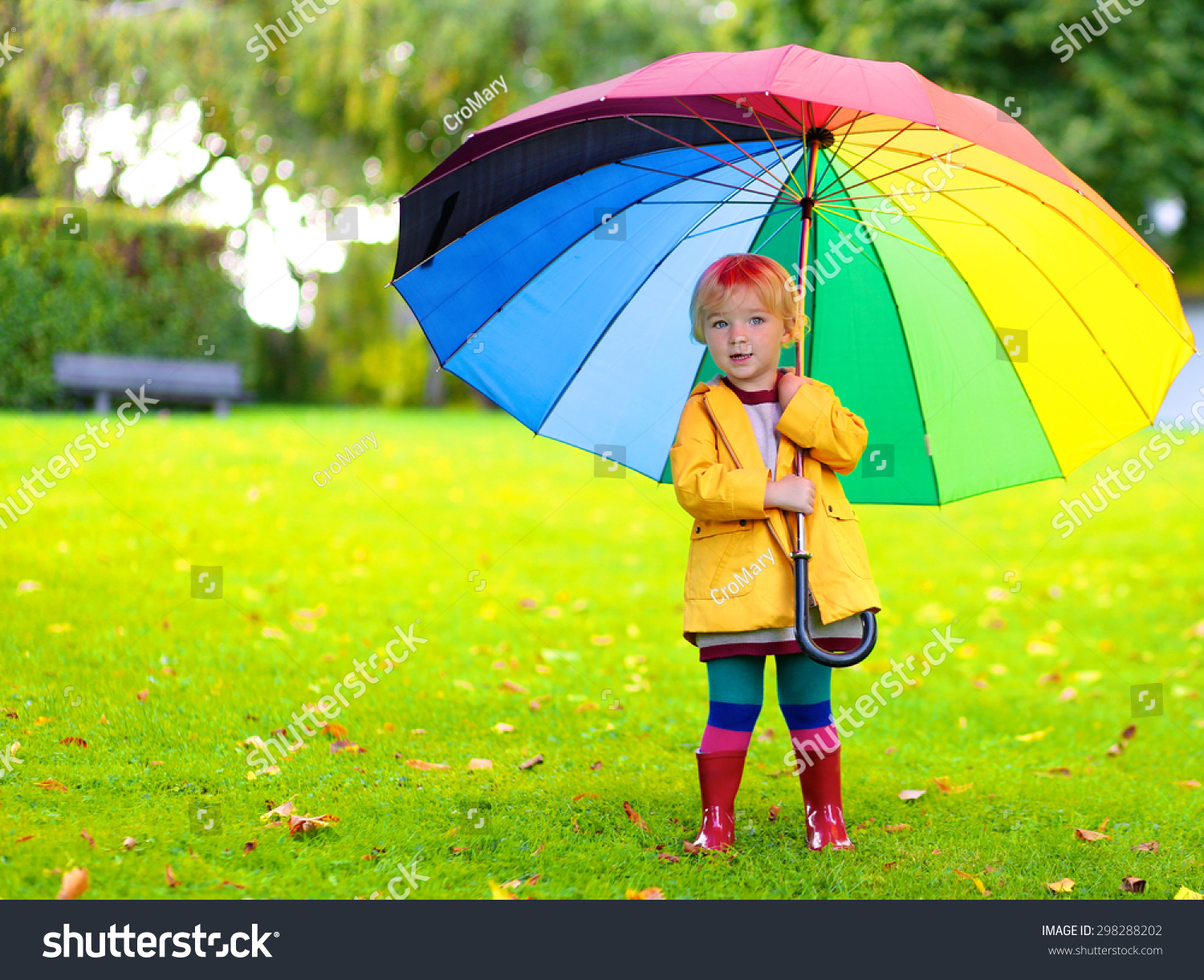 happy little child adorable blonde curly stock photo 298288202
