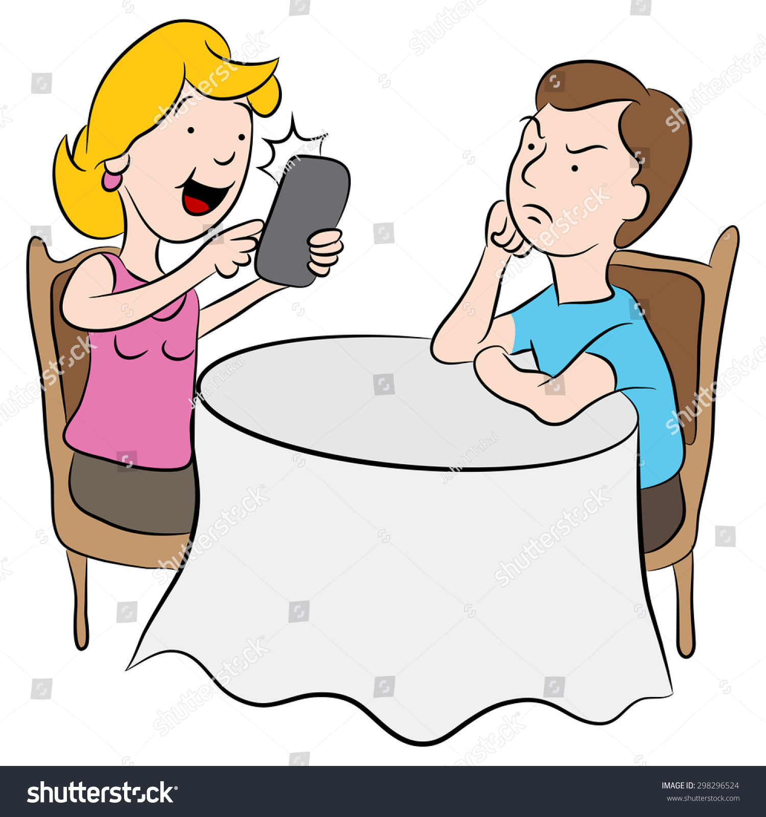 girl texting clipart - photo #47