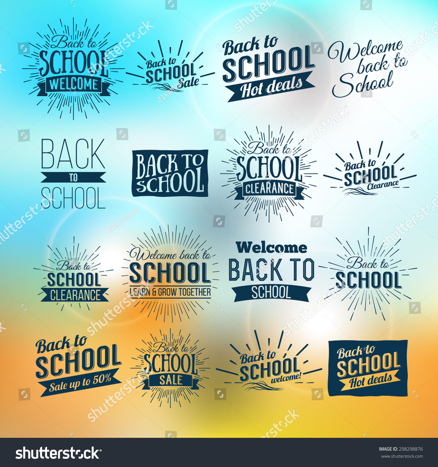 Back to School Typographic Vintage Style Back to School Hot Deals Design Layout In Vector Format