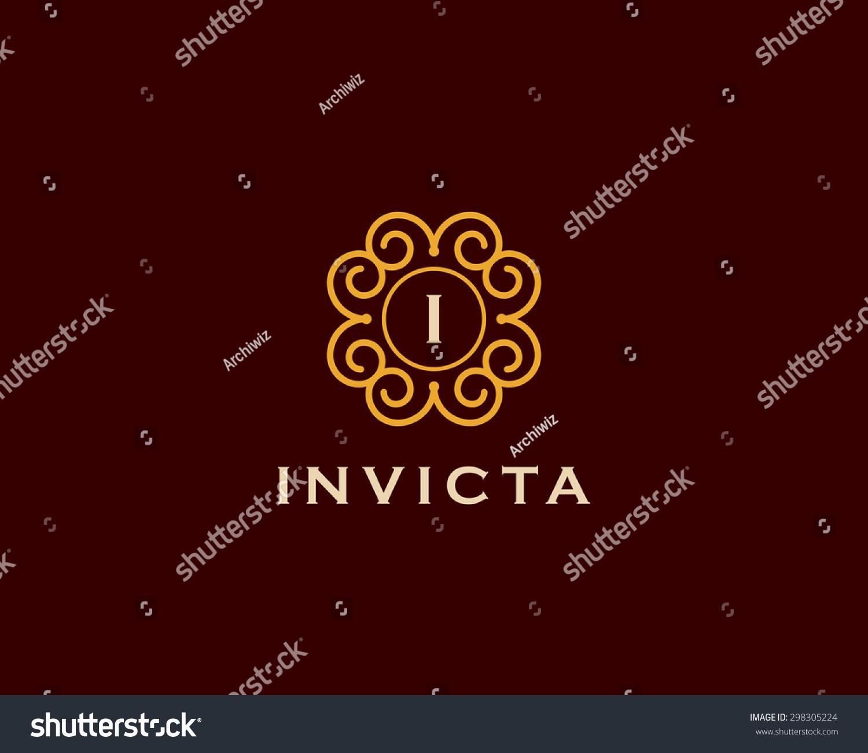 Vector Vintage Elegant Insignia Monogram Frame Stock Vector ...