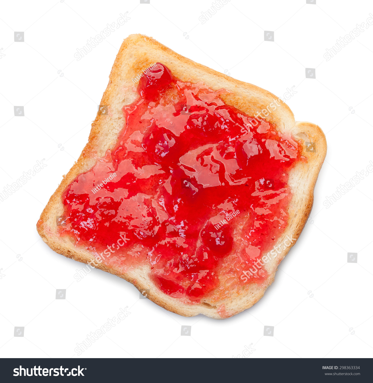 slice toast bread jam isolated on stock photo edit now 298363334