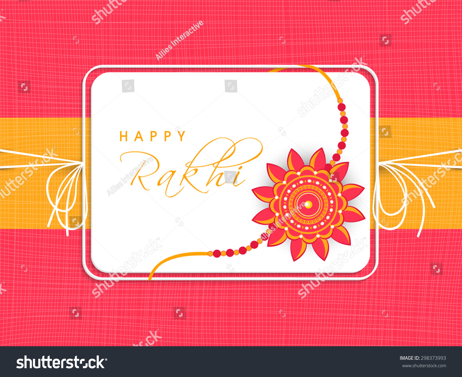 Creative Greeting Card Design Decorated Beautiful Stock Vector