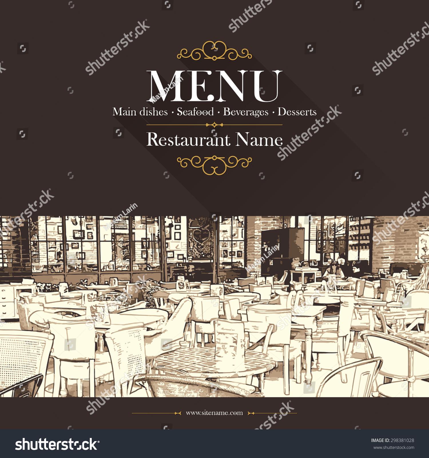 Coffeehouse coffee house restaurant menu stock vector