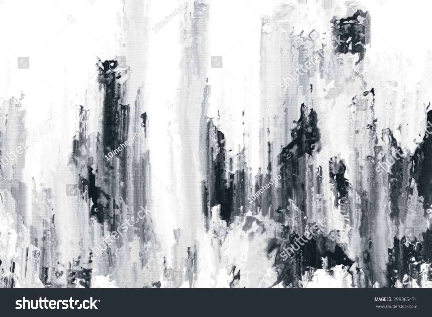 Abstract Black And White Brush Stroke Painting Texture