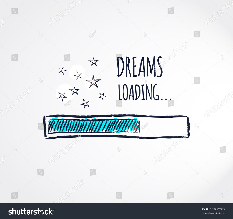 Sweet dreams loading concept progress bar stock vector hd royalty sweet dreams loading concept progress bar design good night funny background vector illustration voltagebd Choice Image