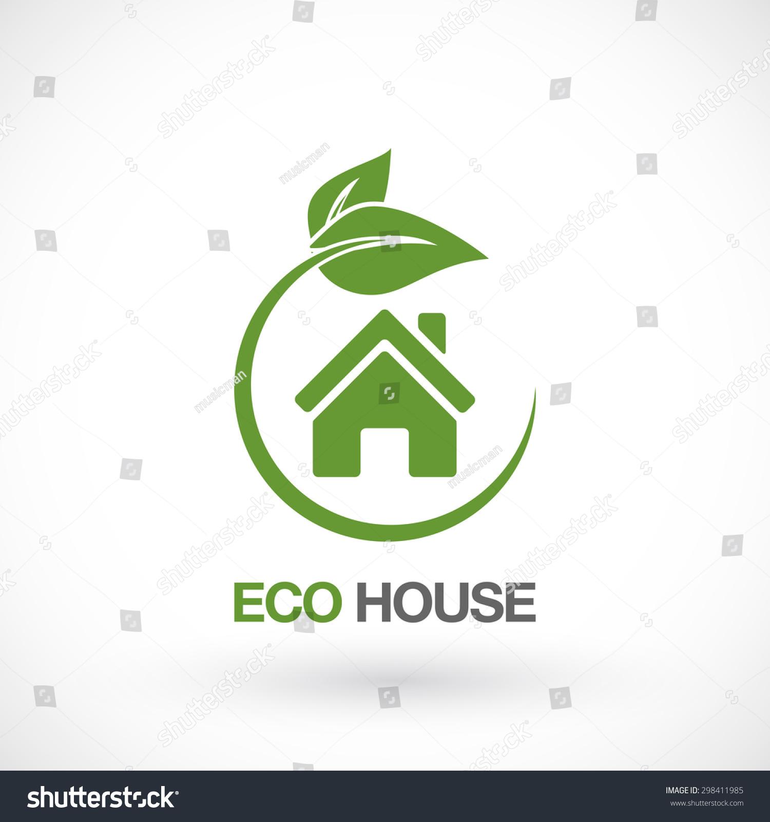 Real estate eco house logo design stock vector 298411985 for House logo design free