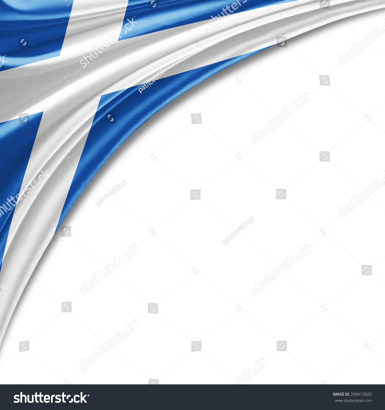 scotland flag silk copyspace your text stock illustration
