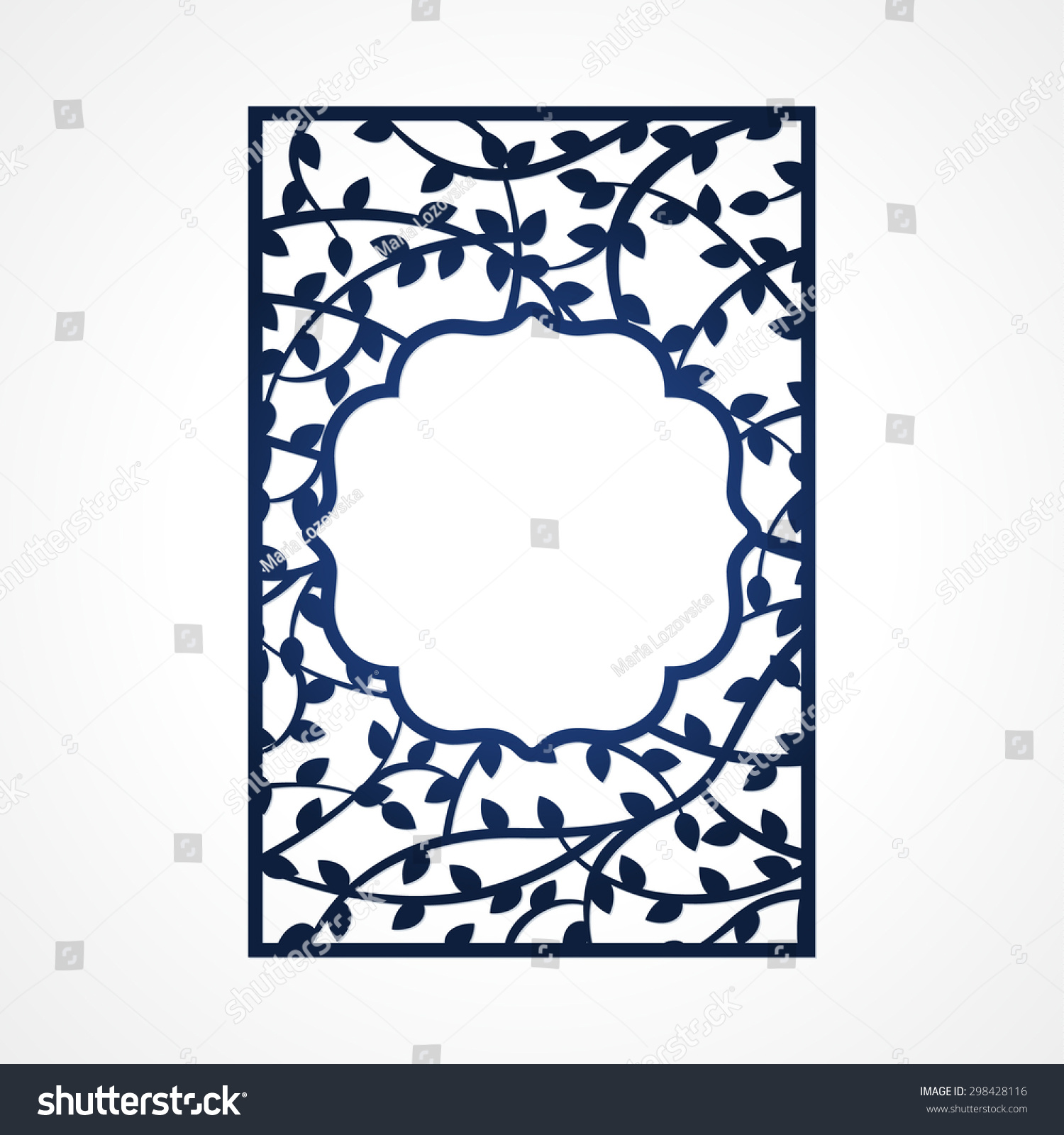 Abstract Vector Frame Tree Branches May Stock Vector 298428116 ...