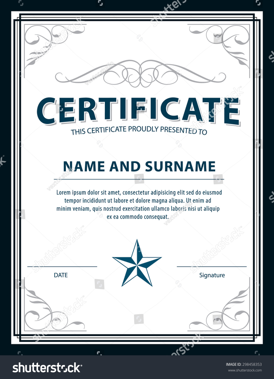 A5 size certificate template gallery certificate design for The request contains no certificate template information