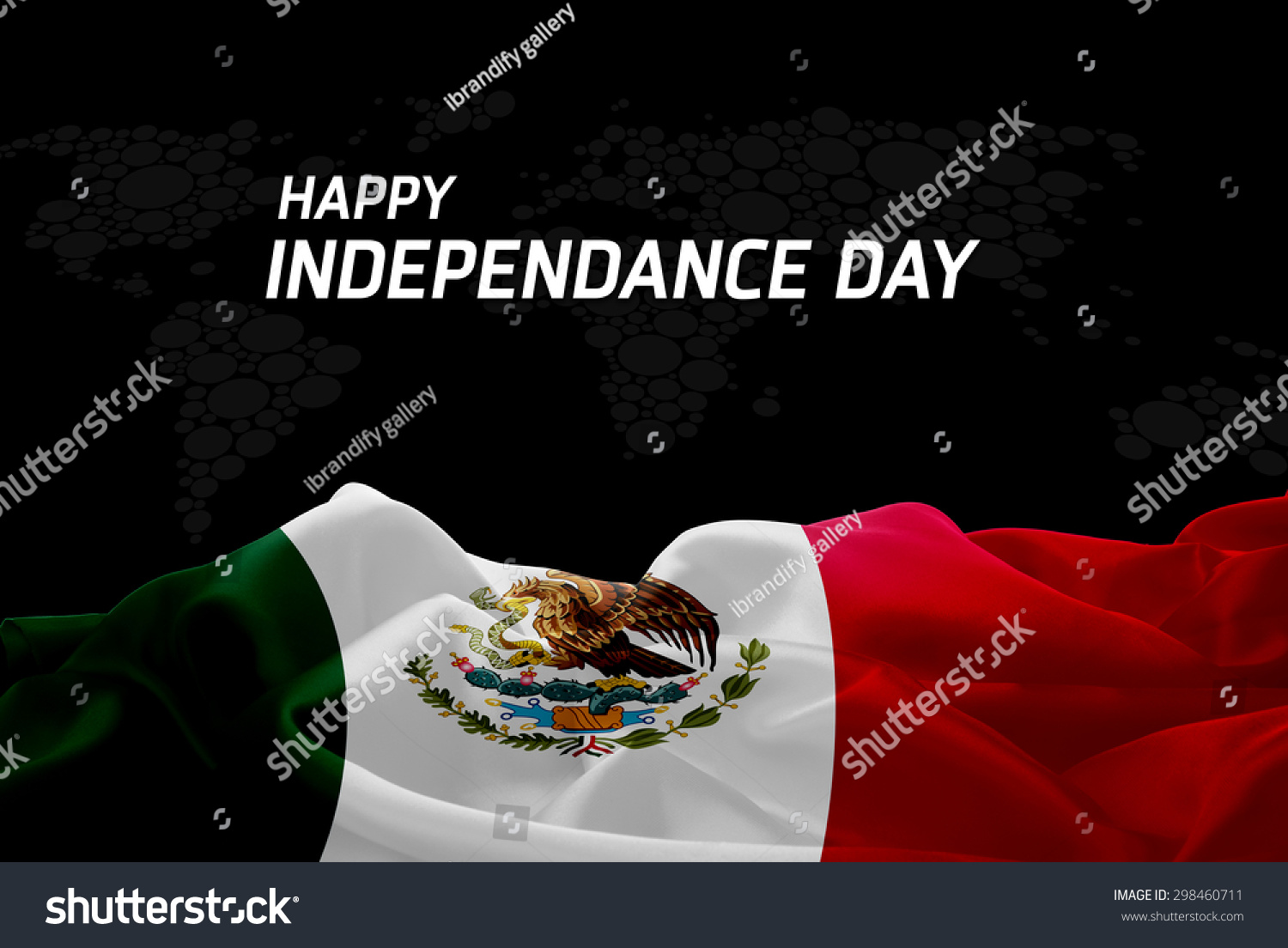 happy independence day mexico flag world stock photo 298460711