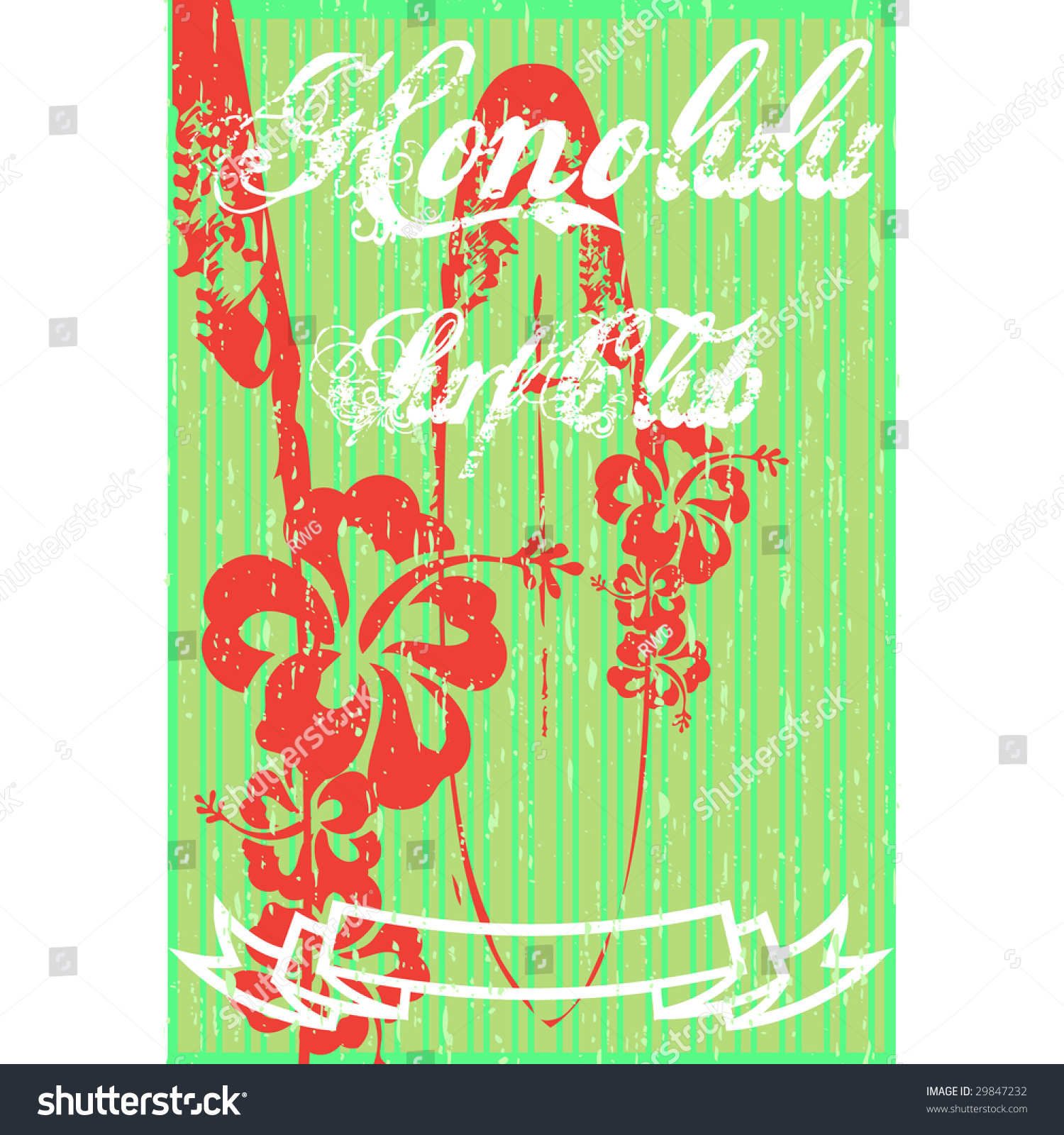 T shirt design hawaii - Surf Club Hawaii Background Or Tshirt Design With Floral Elements Preview Save To A Lightbox