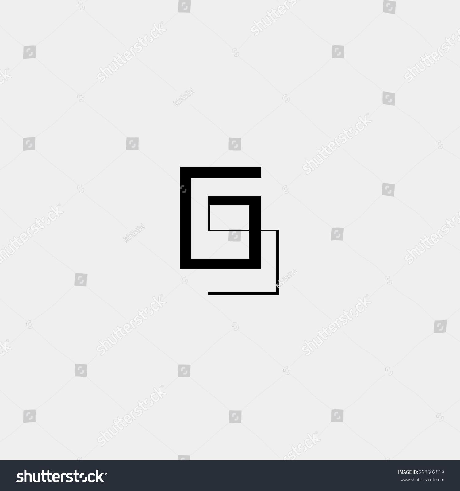 Letter g icon logo design template stock vector royalty free letter g icon or logo design template elements vector vector black and white minimalistic geometric maxwellsz